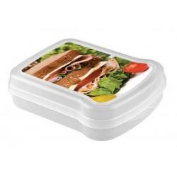 Контейнер для бутербродов с декором 170*130*42 мм