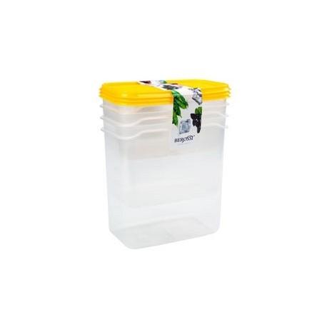 Набор контейнеров Venecia 0,5л.,1л.,1,5л. (лимон)