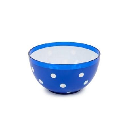 Салатник двухцветный Marusya 0,7 л (синий полупрозрачный) 137х67мм