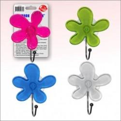 Крючок Цветок на присоске 3 цв