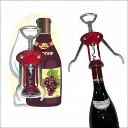 Пробка-аэратор для вина Металлик рэд (упак. 6шт)