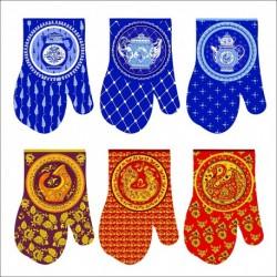 Прихватка-рукавица Русский стиль 6диз. (упак. 6шт)