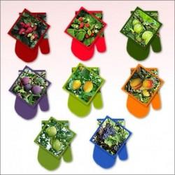 Прихватка с рукавицей Ягоды-фрукты Фото (упак. 8шт)