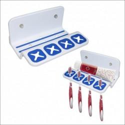 Подставка для 4-х зубных щеток и пасты (на присосках) (упак. 6шт)