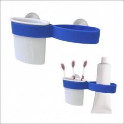 Подставка для зубных щеток и пасты (на присосках) (упак. 6шт)