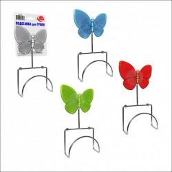 Подставка для губки (с бабочкой) 4цв. (упак. 12шт)