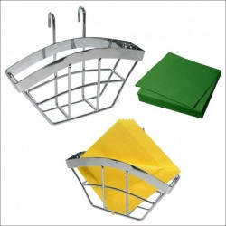 Подставка для салфеток навесная на рейлинг 18*4*10 см (упак. 4шт)