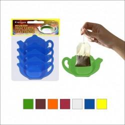 Набор подставок д/чайн пакетиков(4шт) 6 цв (упак. 10шт)