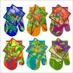 Набор: Прихватка с рукавиц. Обезьянка в джунглях Фото-графика 6диз. (упак. 6шт)
