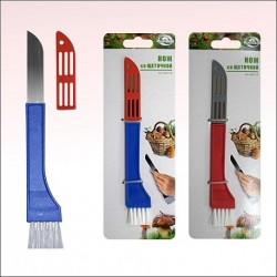 Нож грибника со щеточкой 2 цв (упак.12)