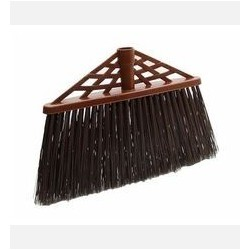 Щетка для уборки мусора РОТАНГ для улицы (205x45х320мм) коричневый ротанг