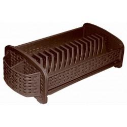Сушилка для посуды (коричневая) 46см*23см*14см