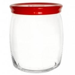 Банка 940мл с красной пластиковой крышкой CESNI