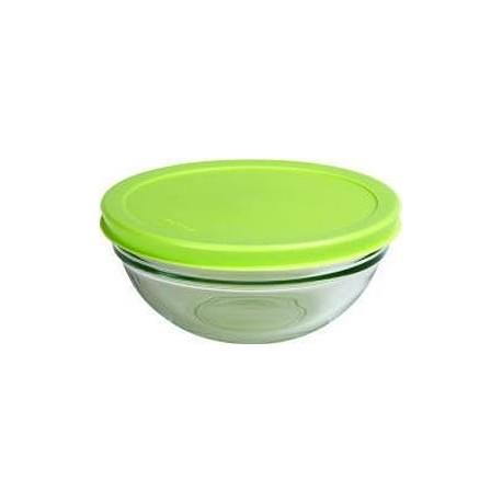 Салатник c зелен. пласт. крышкой 140мм 6шт. CHEF'S