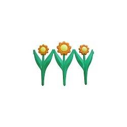 Заборчик Ромашка 3 цветка 30х225см (5секций)