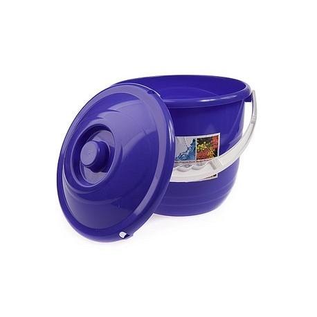Ведро 10л Practic plus с крышкой (лазурно-синий)