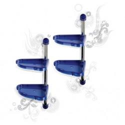 Угловая этажерка Элансия (синий полупрозрачный) (2 варианта сборки) (240х240мм, высота 983мм)