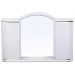 Шкафчик зеркальный Арго (белый мрамор) 596х410х108мм