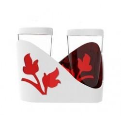 Набор для специй Viola (красный полупрозрачный) 61х105х84мм