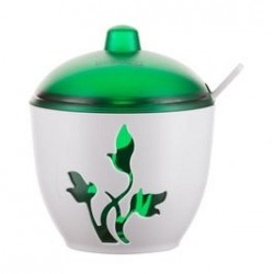 Сахарница Viola (зеленый полупрозрачный) 97х114мм