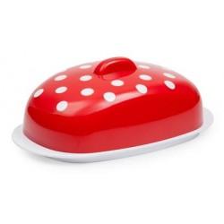 Масленка Marusya (красный полупрозрачный) 190х108х71мм