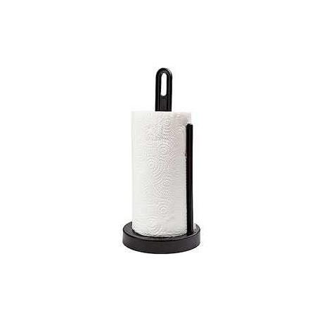 Держатель для бумажных полотенец Solo (черный) (с полотенцем) 322,6х148 мм