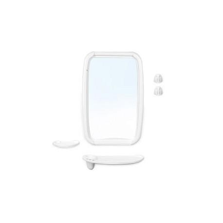 Набор для ванной комнаты Оптима (снежно-белый) (зеркало 346х515мм)