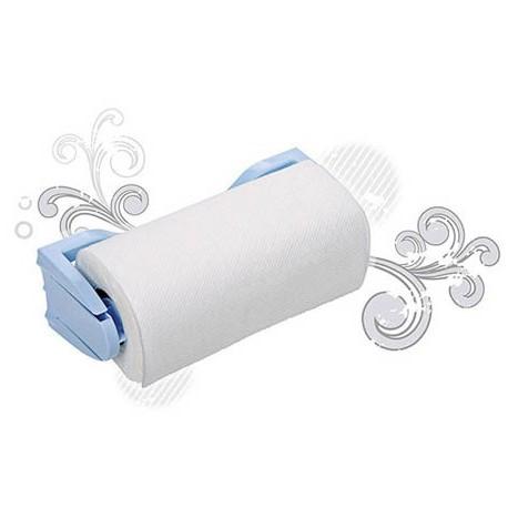 Держатель для бумажных полотенец (светло-голубой)  (с полотенцем) 260х95х90 мм