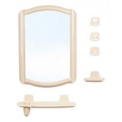 Набор для ванной комнаты Беросси 46 (светло-бежевый) (зеркало 352х520мм)