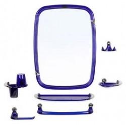 Набор для ванной комнаты Вива классик (син полупроз) (зеркало 430х580мм)