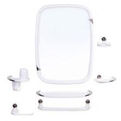 Набор для ванной комнаты Вива классик (снежно-белый) (зеркало 430х580мм)