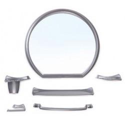 Набор для ванной комнаты Верона (металлик) (зеркало 476х436мм)