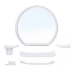Набор для ванной комнаты Верона (снежно-белый) (зеркало 476х436мм)