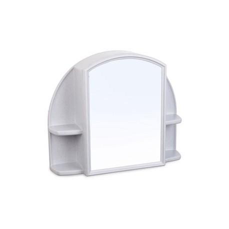 Шкафчик зеркальный Орион (белый мрамор) 508х424х123мм