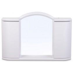 Шкафчик зеркальный Арго (снежно-белый) 596х410х108мм