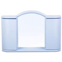 Шкафчик зеркальный Арго (светло-голубой) 596х410х108мм