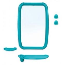 Набор для ванной комнаты Оптима (бирюза) (зеркало 346х515мм)