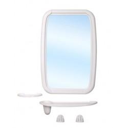 Набор для ванной комнаты Оптима (слоновая кость) (зеркало 346х515мм)