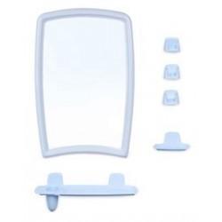 Набор для ванной комнаты Беросси 41 (светло-голубой) (зеркало 350х520мм)