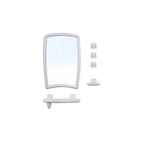 Набор для ванной комнаты Беросси 41 (белый мрамор) (зеркало 350х520мм)