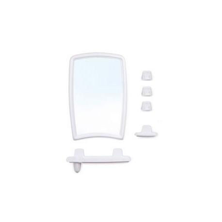 Набор для ванной комнаты Беросси 41 (снежно-белый) (зеркало 350х520мм)