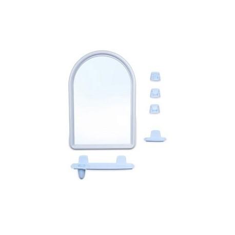Набор для ванной комнаты Беросси 56 (светло-голубой) (зеркало 360х520мм)