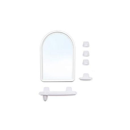 Набор для ванной комнаты Беросси 56 (снежно-белый) (зеркало 360х520мм)