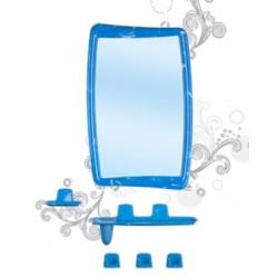 Набор для ванной комнаты Беросси 51 (белый мрамор) (зеркало 346х546мм)