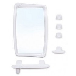Набор для ванной комнаты Беросси 51 (снежно-белый) (зеркало 346х546мм)