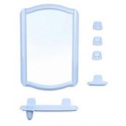 Набор для ванной комнаты Беросси 46 (светло-голубой) (зеркало 352х520мм)