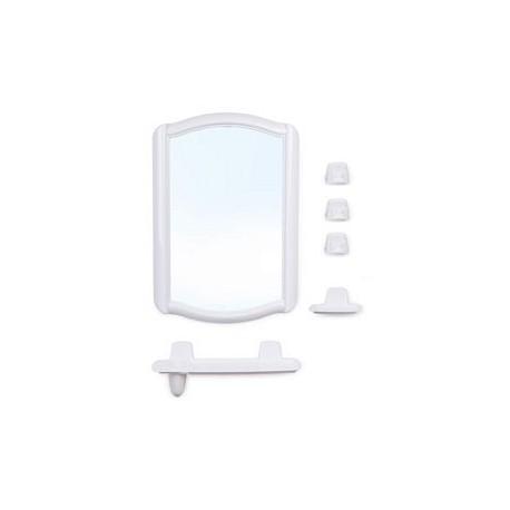 Набор для ванной комнаты Беросси 46 (белый мрамор) (зеркало 352х520мм)