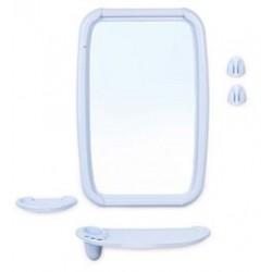 Набор для ванной комнаты Оптима (светло-голубой) (зеркало 346х515мм)