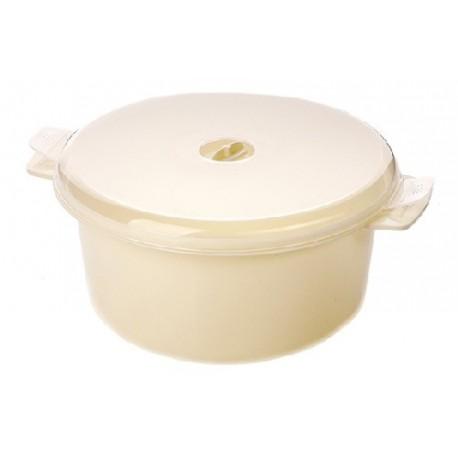 Кастрюля для СВЧ Экспресс (снежно-белый) 200х102мм