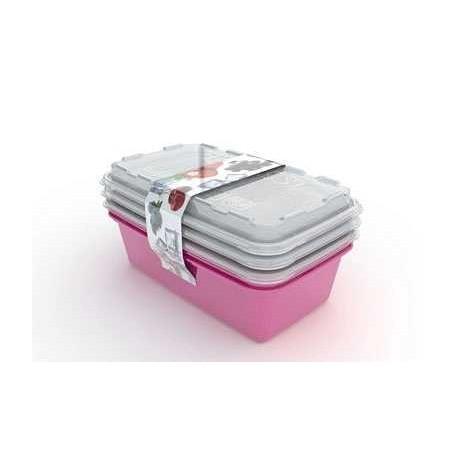 Набор контейнеров для заморокзик Zip 1л. 3шт. (сангрия) 200х120х95мм